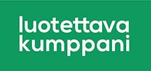 Luotettava kumppani -logo.